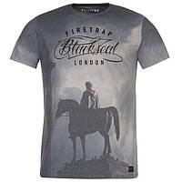 Футболка мужская Firetrap Blackseal Trafalger Tee Shirt / Grey, фото 1