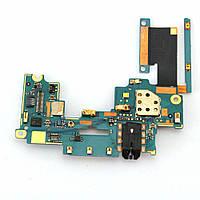 Шлейф с разъемом для наушников и компонентами HTC One M7 801e Original