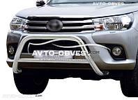 Кенгурятник без гриля Toyota Hilux 2015-...  п.к. RR006