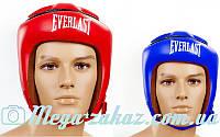 Шлем боксерский открытый с усиленной защитой макушки Elast 8206 (шлем для бокса): 3 цвета, M/L/XL
