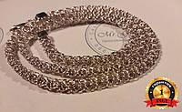 Серебряная женская цепочка плетение роза