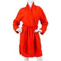 Халат женский красный 100 см