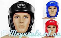 Шлем боксерский открытый с усиленной защитой макушки Elast 4492 (шлем для бокса): 3 цвета, S/M/L