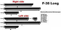 Молдинги на двери Automotiva F-38 LWB / side door moldings