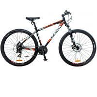 """Велосипед 29"""" Leon TN-90 AM 14G DD рама-19"""" Al черно-бело-оранжевый 2016"""