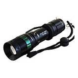 Ліхтар фокусируемый Bailong BL-8455 (Cree XPE-Q5, 180 люмен, 3 режими, 1х18650/3хААА), комплект, фото 2