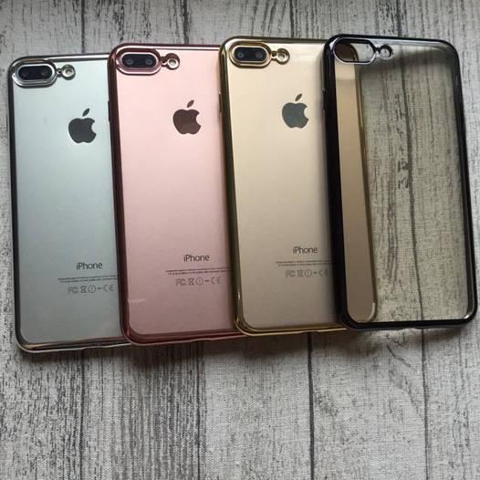Прозрачный чехол с зеркальным бампером для iPhone 7 Plus