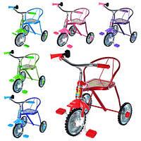 Велосипед LH-701 M  3 колеса, хром, 6 цветов:красн, зел, голуб, син, розов, фиолет.клаксон, 51-52-40см