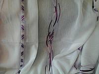 Тюль лен Фиолет, фото 1
