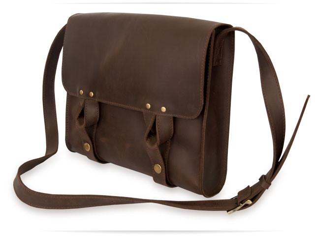 Satchel bag brown 2, мессенджер коричневая