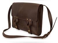 Satchel bag brown 2, мессенджер коричневая, фото 1