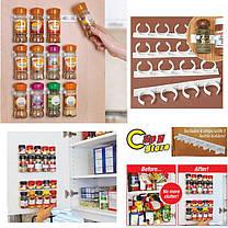 Универсальный кухонный органайзер Clip n Store для шкафов и холодильников, фото 3