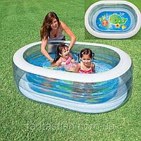 Детский надувной бассейн INTEX 57482 овальный 163-107-46см, 238л, 2,72кг, в кор-ке, 35,5-31-9см IKD /28-51