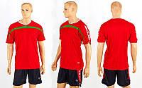 Футбольная форма ZA CO-2557-R (р-р M-XXL, красный, шорты черные)