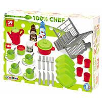 Набор посуды для кухни Ecoiffier Chef-Cook 39 аксессуаров (002619)