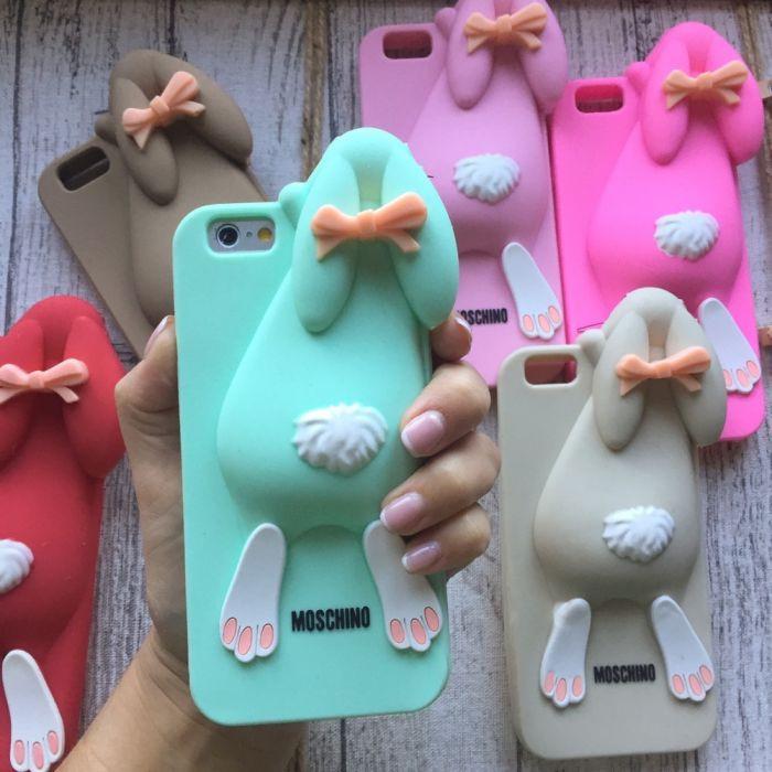 Силиконовый кролик Moschino для iPhone 6/6s