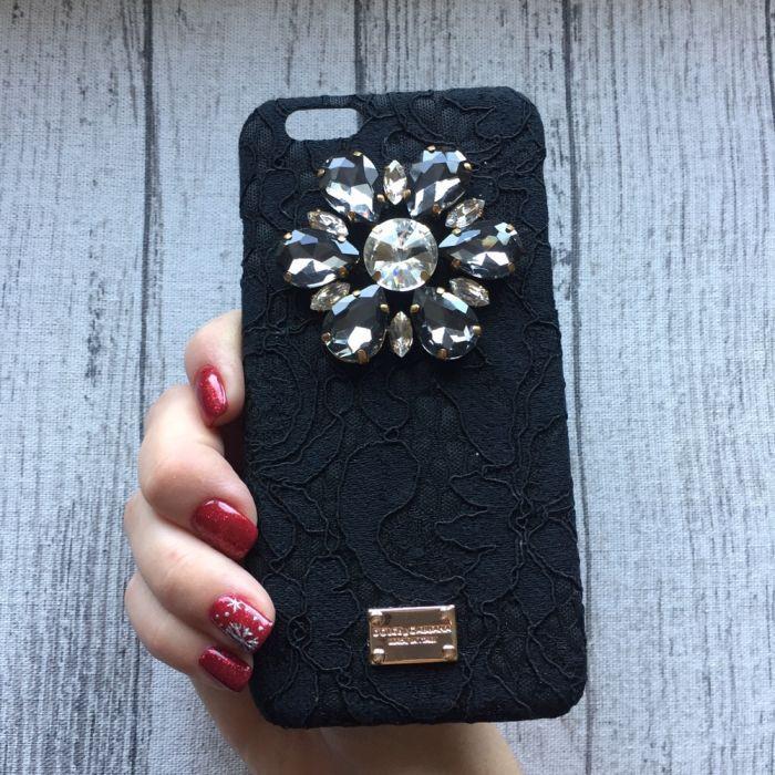 Чехол с камнями Dolce & Gabbana для iPhone 6/6s