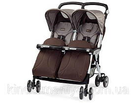 Peg-Perego Aria Twin Chocolat прогулочная коляска для двойни коричневая