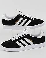 Мужские кроссовки Adidas Gazelle II Black (ТОП РЕПЛИКА ААА+)