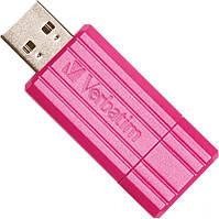 Флешка 16Gb Verbatim Store'N'Go Pin Stripe Pink / 49067