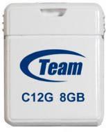 Флешка 8Gb Team C12G White / 20/10Mbps / TC12G8GW01