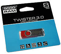 Флешка USB 3.0 8Gb Goodram Twister Red / UTS3-0080R0R11