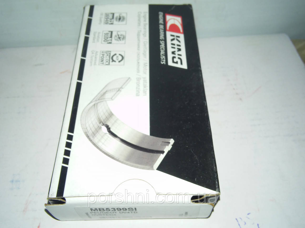 Вкладыши коренные Ford Fiesta  1.4 TDCI  2001 > 1,6 TDCI  0.30    King  MB5399SI 0.30