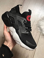Мужские кроссовки Nike Air Huarache Ultra GS Black Red 2017