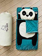 Спальник (слипик) одеяло-матрас+подушка 120x60 Панда. Бесплатная доставка!