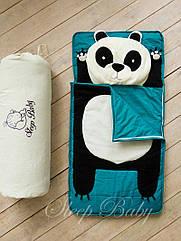 Спальник (слипик) одеяло-матрас+подушка 120x60 Панда
