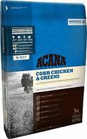 Acana Cobb Chicken & Greens Сухой корм для взрослых собак с курицей и зеленью Heritage Formula 60/40/0 17кг