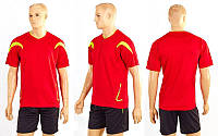 Футбольная форма Аcting CO-5402-R (PL, р-р M-XXL, красный, шорты черные)