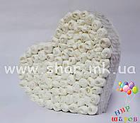 Декоративное сердце, белое