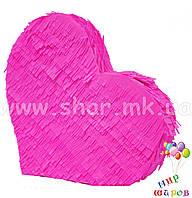 Декоративное сердце, розовое