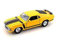 Автомодель (1:24) '70 Ford Boss Mustang жёлтый