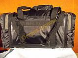 Сумка спортивная дорожная Adidas 278 регулируемый объем серо-зеленая, фото 3