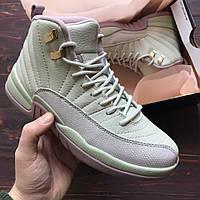 Женские кроссовки Nike Air Jordan 12 OVO White/Pink