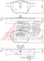 Гальмівні колодки передні з датчиком (R16, 161.4x72.8x19.6mm) VW T4 00-03 37240 ABS