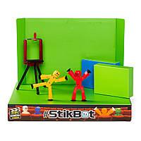 Игровой набор для анимационного творчества STIKBOT S1 – СТУДИЯ Z-SCREEN 2 экскл. фиг.,штатив,сцена (TST617)