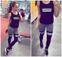 Стильный женский спортивный костюм для фитнеса