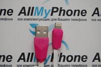 USB дата-кабель для мобильного телефона Apple iPhone 5,5S,6,6S lightning ALIENS  REMAX 1 meter белый с розовым