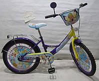 Велосипед двухколёсный Волшебница T-22022 purple + yellow 20 дюймов ***