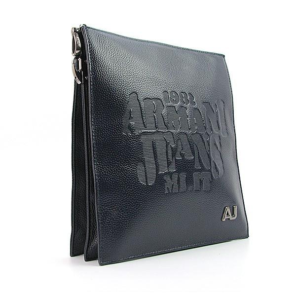 Сумка кожаная мужская через плечо синяя планшет 27*25*8 см, Armani 8188