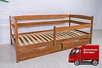 Кровать детская Марио Люкс Olimp с ящиками из натурального дерева