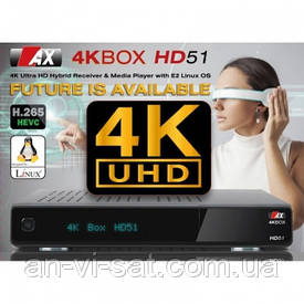 Ресивер AX 4K-BOX HD51 UHD DVB-S2 (Opticum)