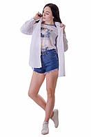 Классическая удлиненная блузка с карманами
