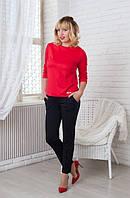 Стильный женский костюм, цвет: красный с черным