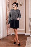 Пальто женское демисезонное, выполненное из двух цветов итальянской пальтовой ткани Разные цвета
