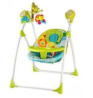 Кресло-качели с электроприводом Bambi 2 в 1 M 1540-4-2 зеленая