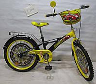 Велосипед двухколёсный Автогонщик 20 T-22025 black + yellow ***